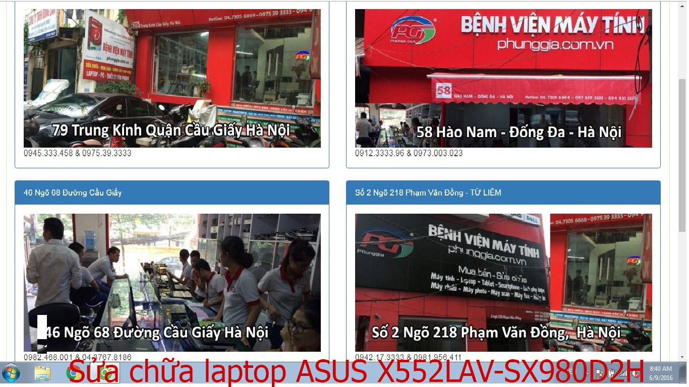 sửa chữa laptop ASUS X552LAV-SX980D, X552LD-SX181H, X552LD-XX452H, X552LDV-SX470D