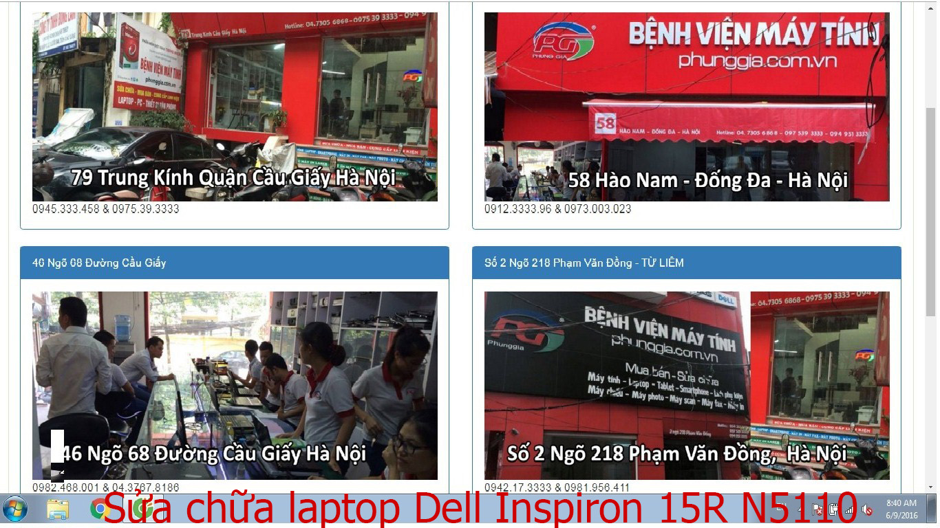 sửa chữa laptop Dell Inspiron 15R N5110, 15R N5447A, 15R N5520, 15R N5537