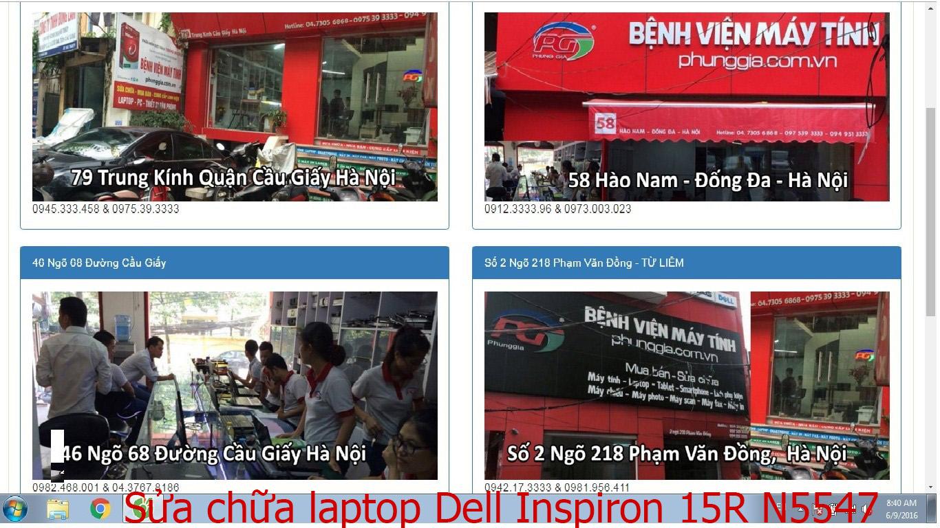 sửa chữa laptop Dell Inspiron 15R N5547, 15R N5548, 15R SE 7520, 15R T5537