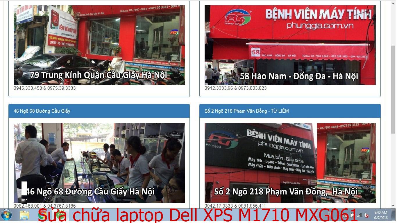 sửa chữa laptop Dell XPS M1710 MXG061, M1730 M1730, M2010 MXP061, 13 9343
